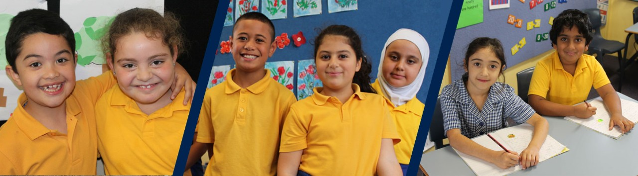 Students attending Merrylands Public School.